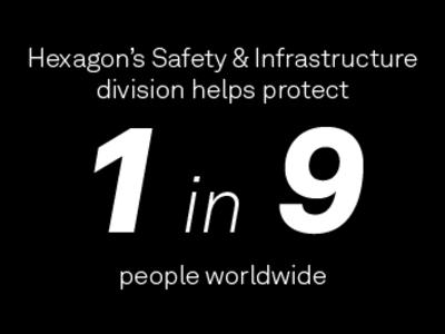 hexagon safety and infrastructure helps-protect 1 in 9 people worldwide