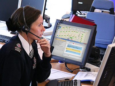 Officer maintains a security center