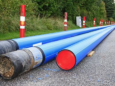 Laying pipe for network design