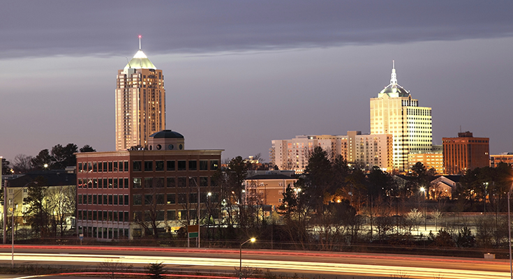 Urban cityscape Virginia Beach