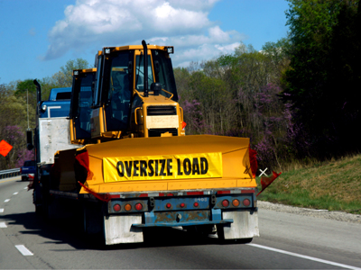 oversize/overweight vehicle on road