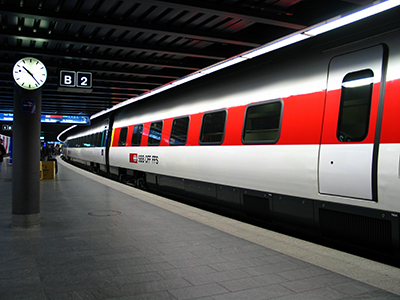 Speed train on railway